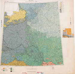Ethnographical Map Eastern Europe Poland 1918